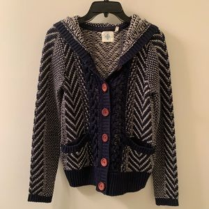 Anthropologie buttoned sweater. Small